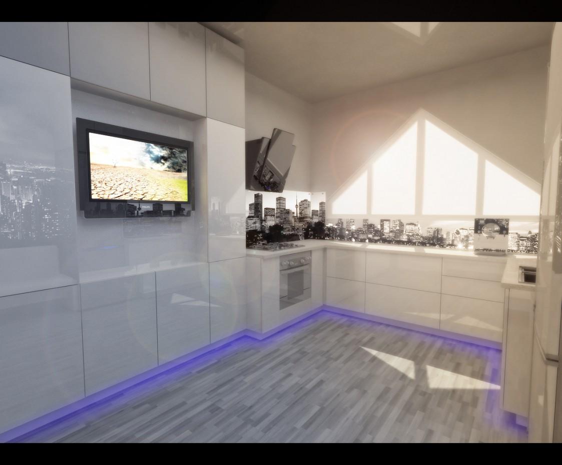 2-х кімнатна квартира м.Алмати в 3d max vray зображення