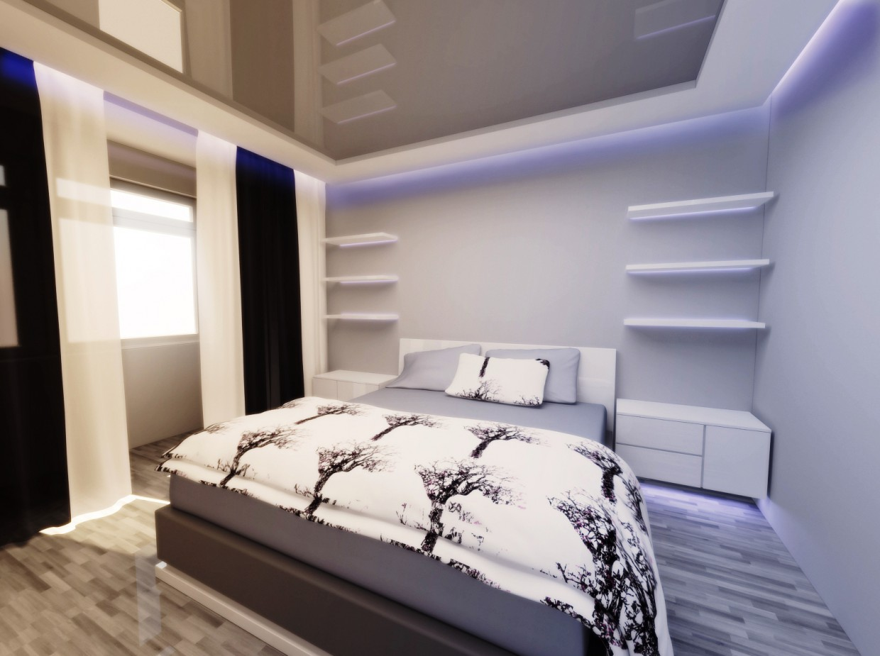 2-room apartment in Almaty in 3d max vray image
