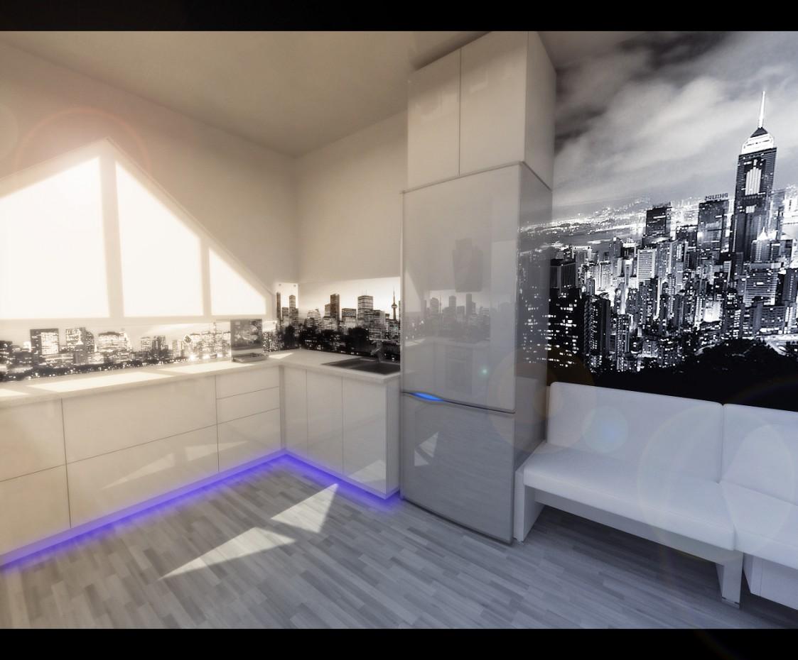 2-х комнатная квартира г.Алматы в 3d max vray изображение