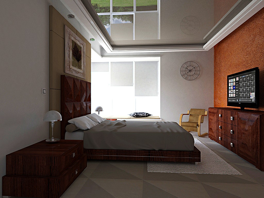 Номер в общежитии в 3d max mental ray изображение
