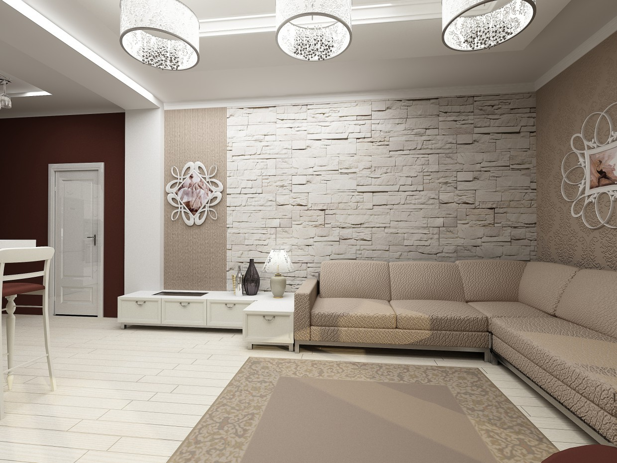 An apartment at the Topolink... in 3d max vray image