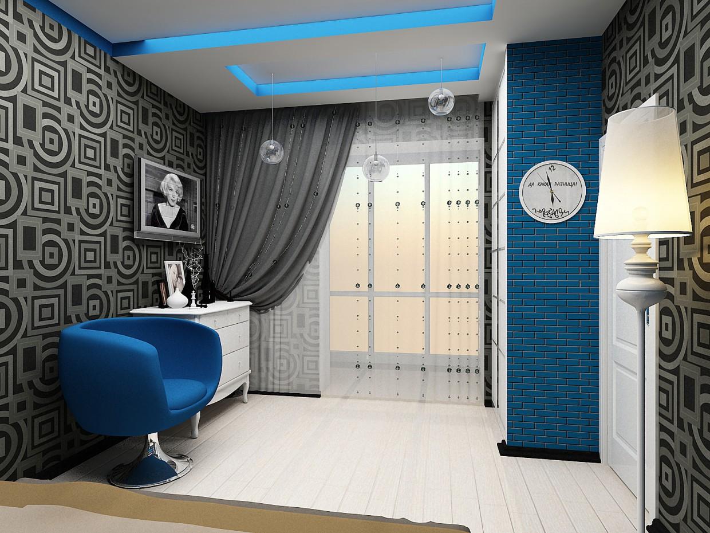 Квартира на Тополинке... в 3d max vray изображение