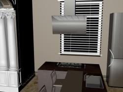 Visualização de uma cozinha