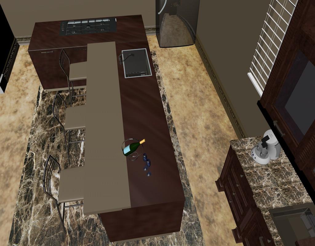 imagen de visualización de una cocina en Cinema 4d Other