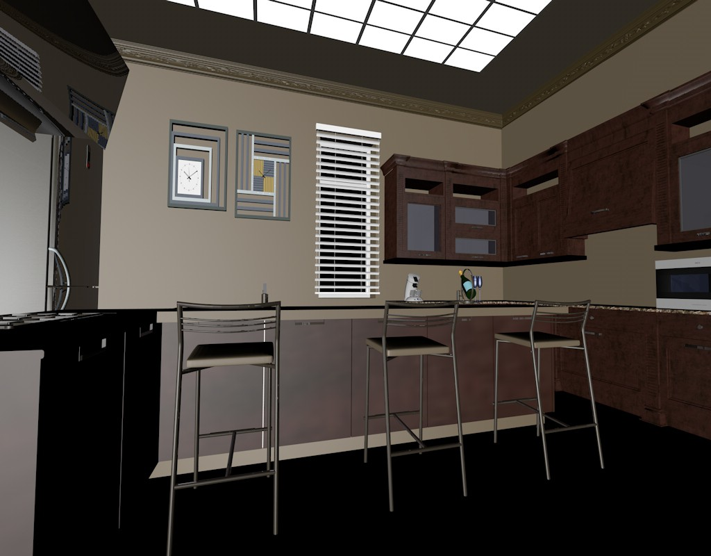 Visualization of a kitchen design and visualization for Kitchen design visualiser