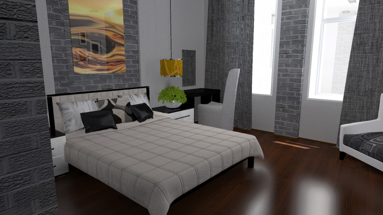 The interior rooms of the hotel in Other thing maxwell render image