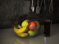 Fruits in the kitchen