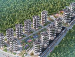 आवासीय क्षेत्र का 3 डी आर्किटेक्चर विजुअलाइजेशन