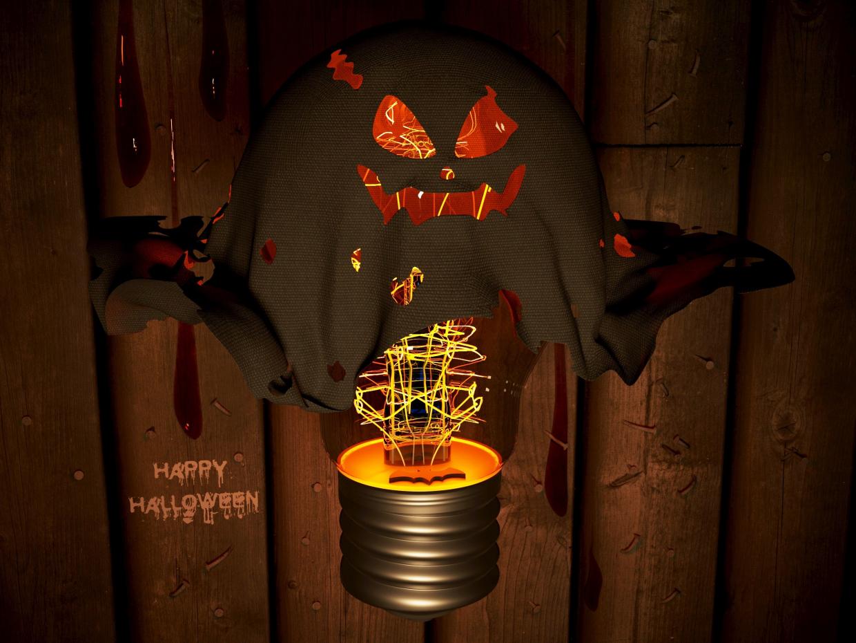 Happy halloween in 3d max corona render image