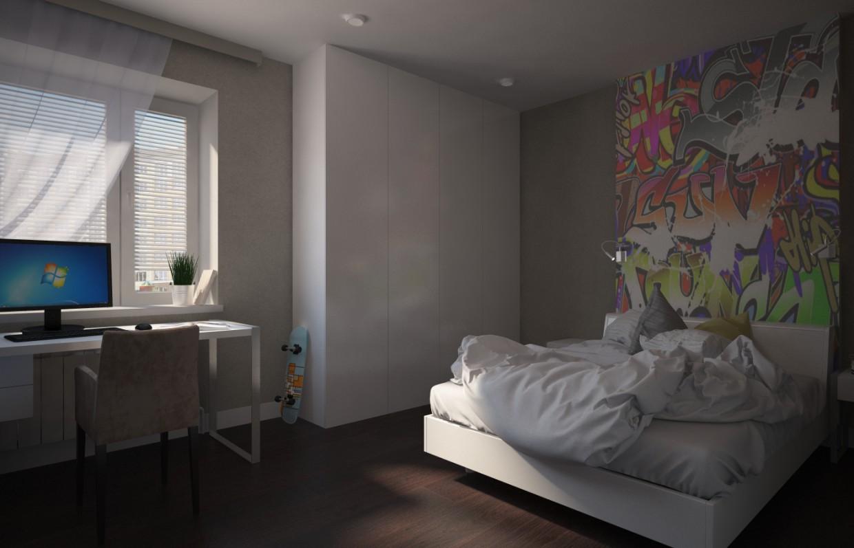 visualización 3D del proyecto en el Habitación de un niño 3d max render vray Ируля