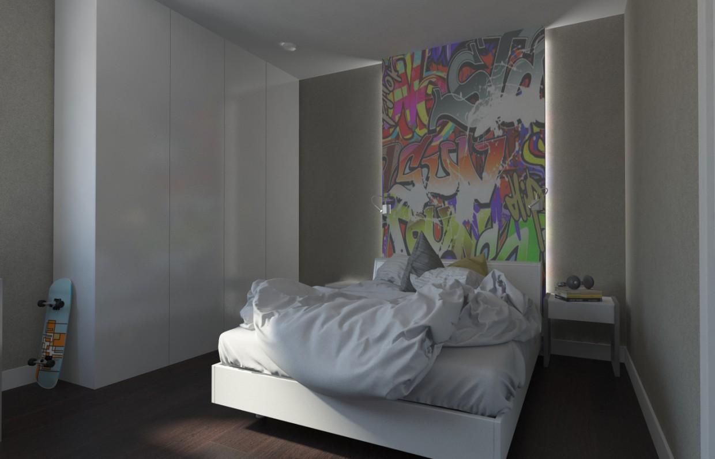 Комната мальчика в 3d max vray изображение