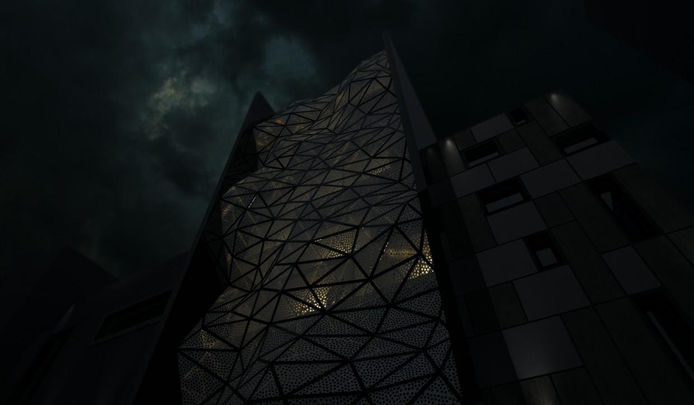 Параметрический фасад в 3d max vray изображение