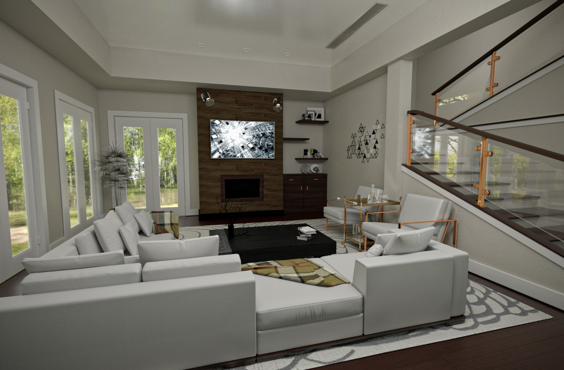 Lounge in 3d max corona render image