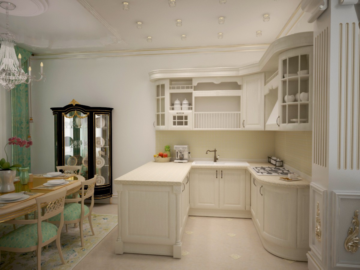 3d visualization of the project in the Kitchen 3d max, render vray of jay_4ever