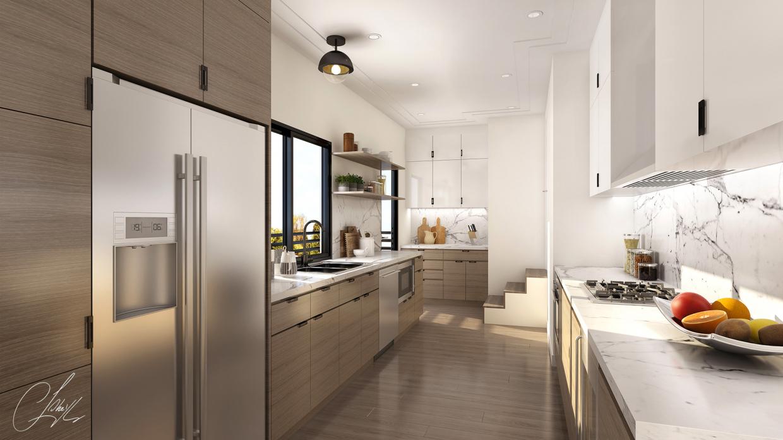 imagen de cocina interior en 3d max vray 3.0