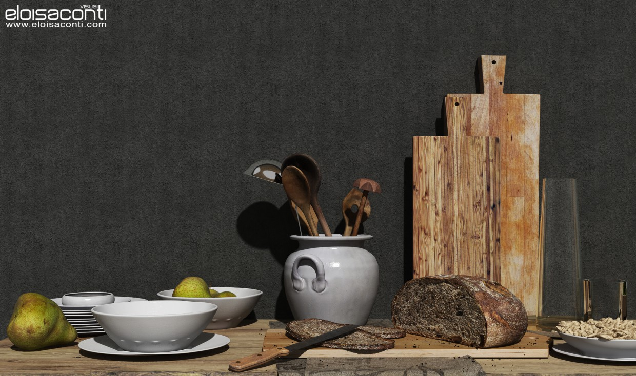 Still life... in Cinema 4d vray image