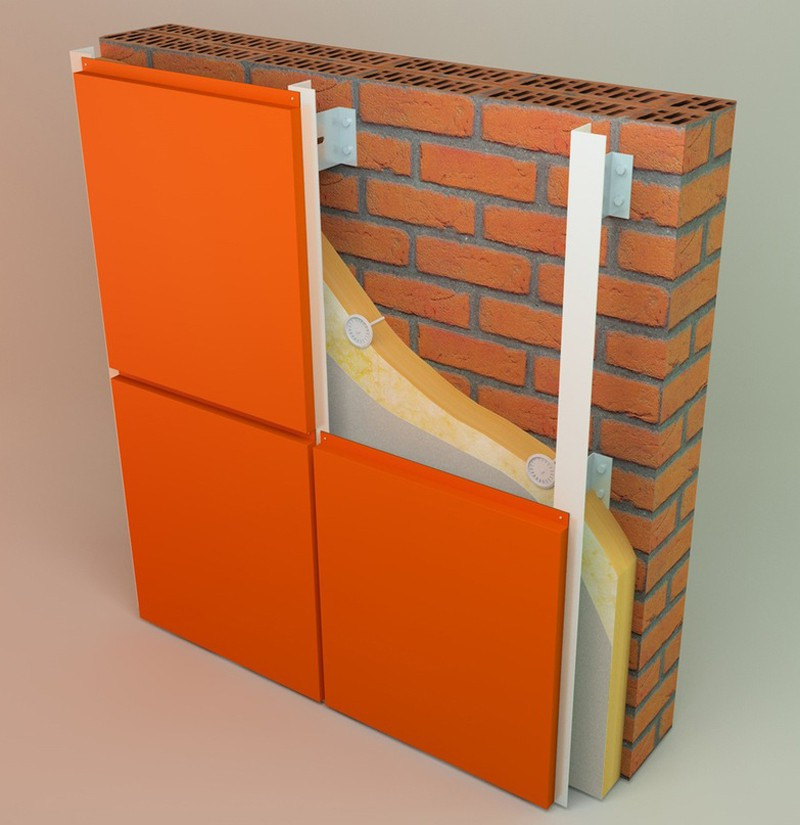 Ventilated fasade - manufacturing model in Cinema 4d Other image
