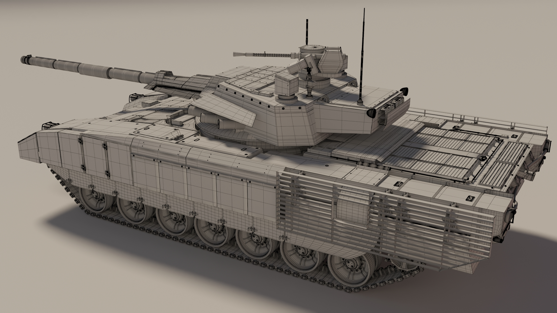 Tanks for the project in 3d max corona render image