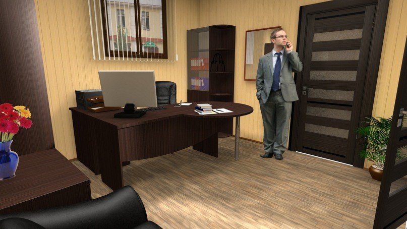 office in Cinema 4d Other image