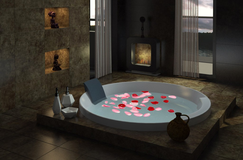 Bathroom in a country house in 3d max vray 2.0 image
