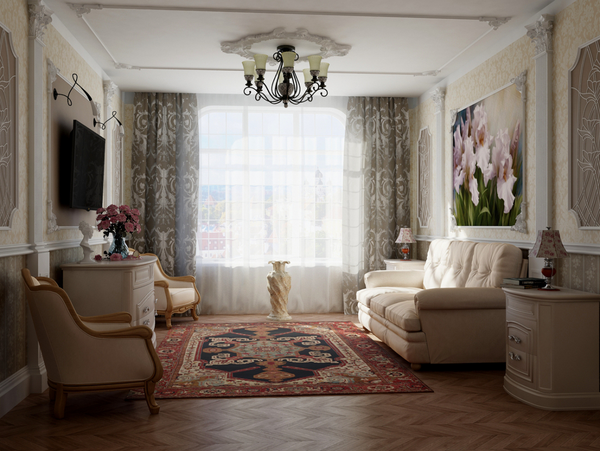 Apartment in 3d max mental ray image