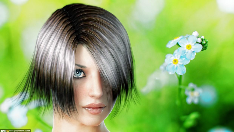 Портрет девушки в 3d max vray изображение