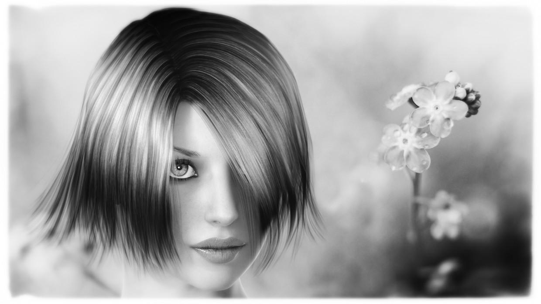 Портрет дівчини в 3d max vray зображення