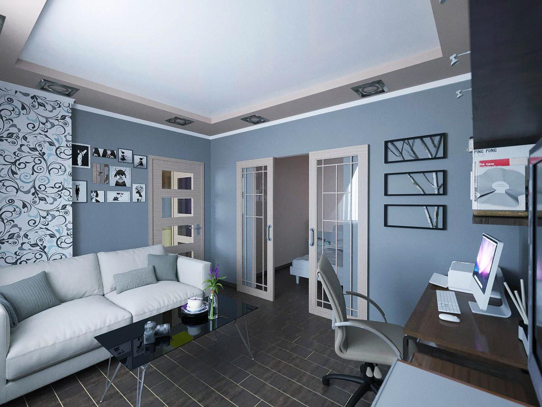 3d визуализация проекта Гостиная в квартире в ArchiCAD, рендер corona render от Alexandr Podvoisky
