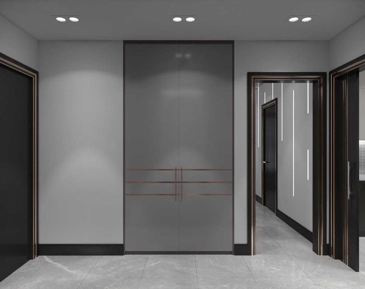 Hallway. in 3d max corona render image