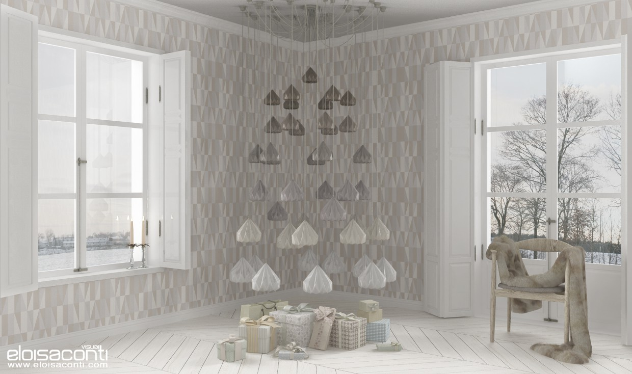 3d visualization of the project in the Alternative Christmas decorations... 3d max, render vray of eloisa.conti