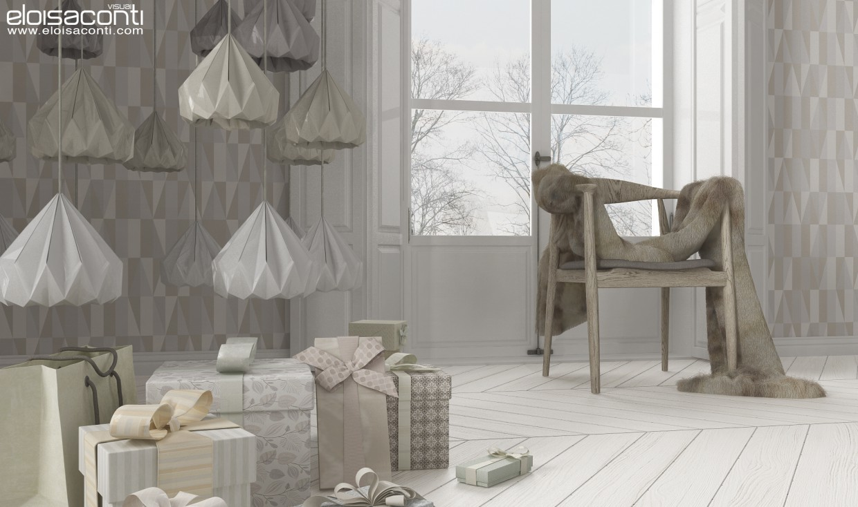 Alternative Christmas decorations... in 3d max vray image