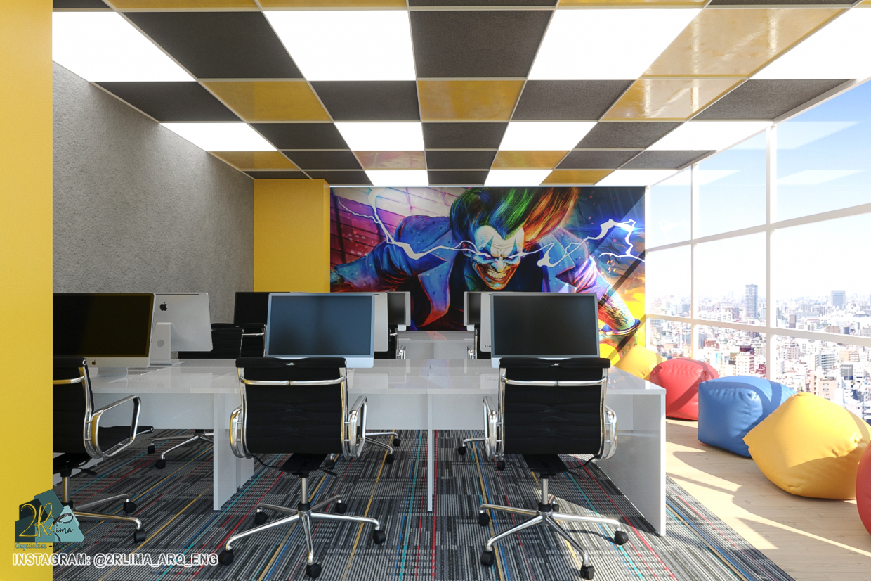 Office Corporate Brazil in 3d max corona render image