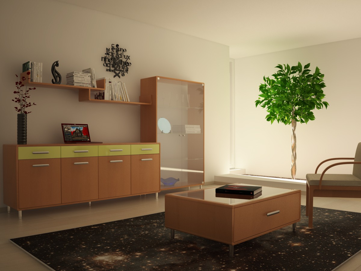 3d visualization of the project in the Collection of furniture Cinema Maya, render vray of temporalex