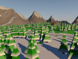 Low Poly - Bosque de nieve