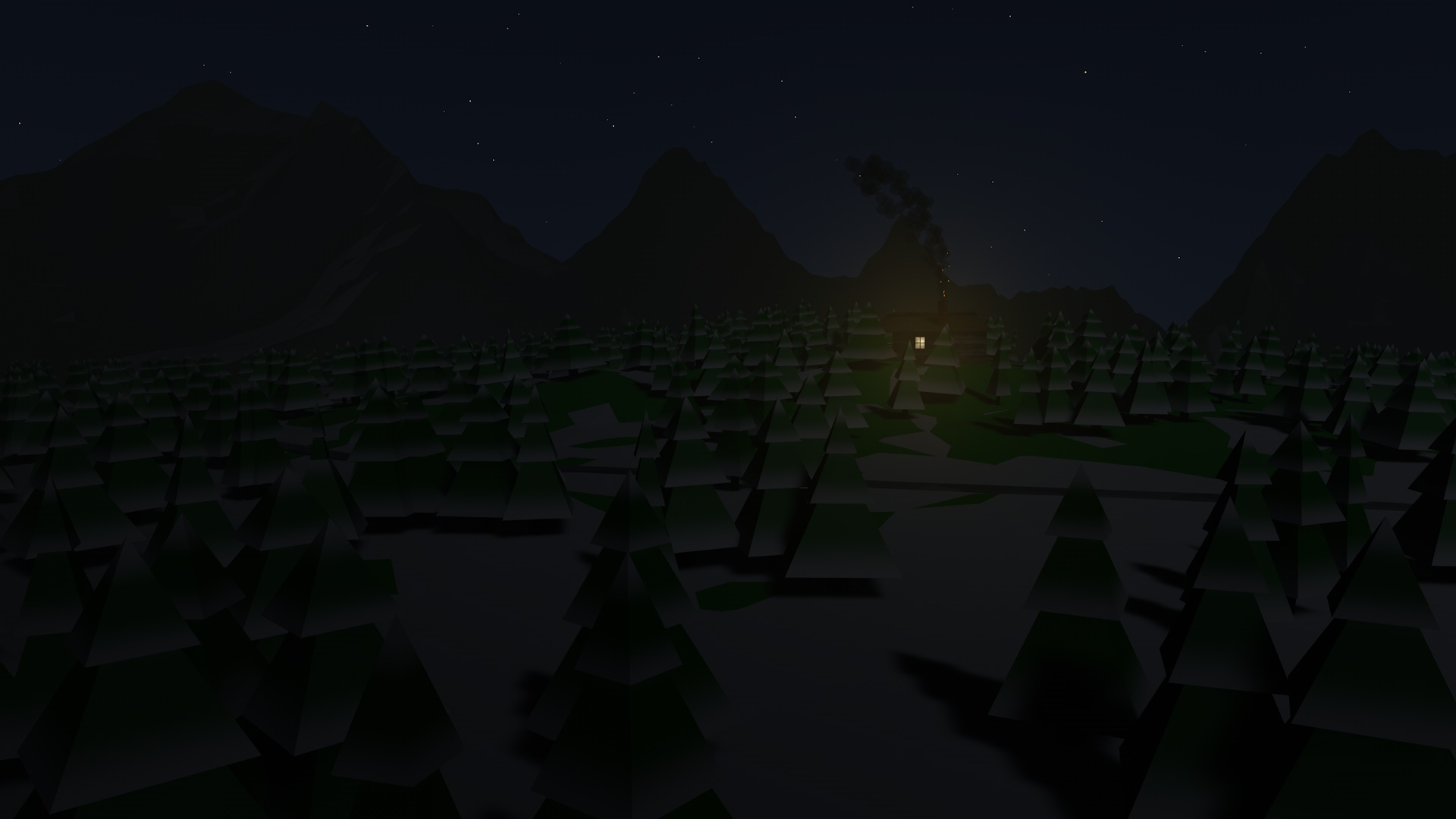Low Poly - Snow Forest in Cinema 4d Other image