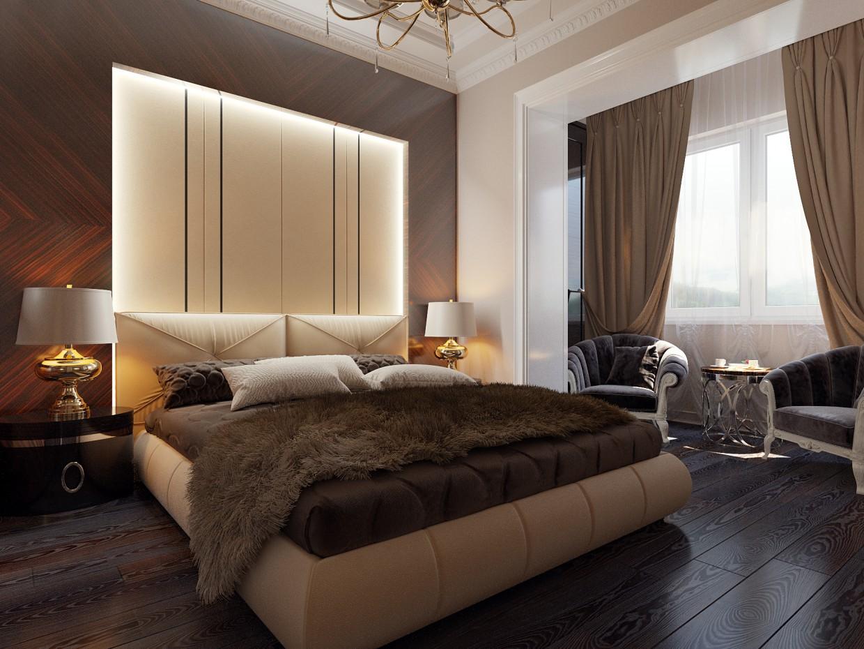 Bedroom  in  3d max   corona render  image