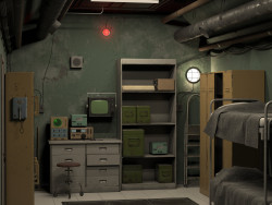 Room in the bunker