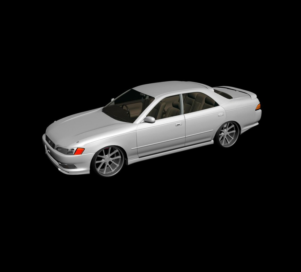 3d visualization of the project in the Mark ii jzx90 3d max, render vray of MaksGrande