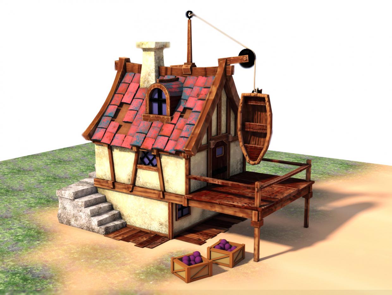 Fishman's House in Blender corona render image