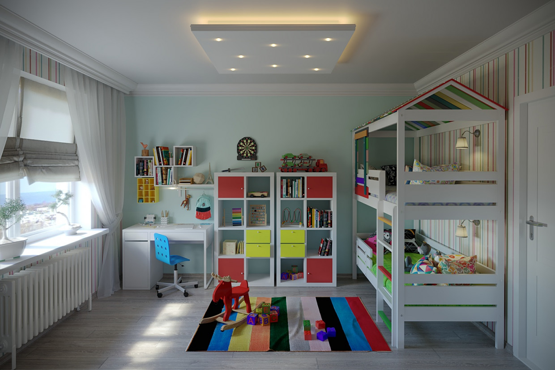 Детская комната в 3d max corona render изображение