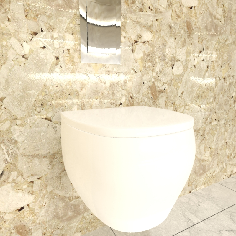 Piece of bathroom in 3d max mental ray image