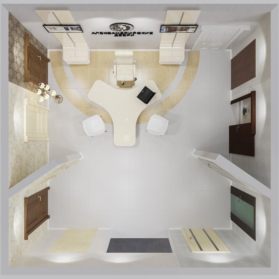 Салон дверей в 3d max corona render изображение