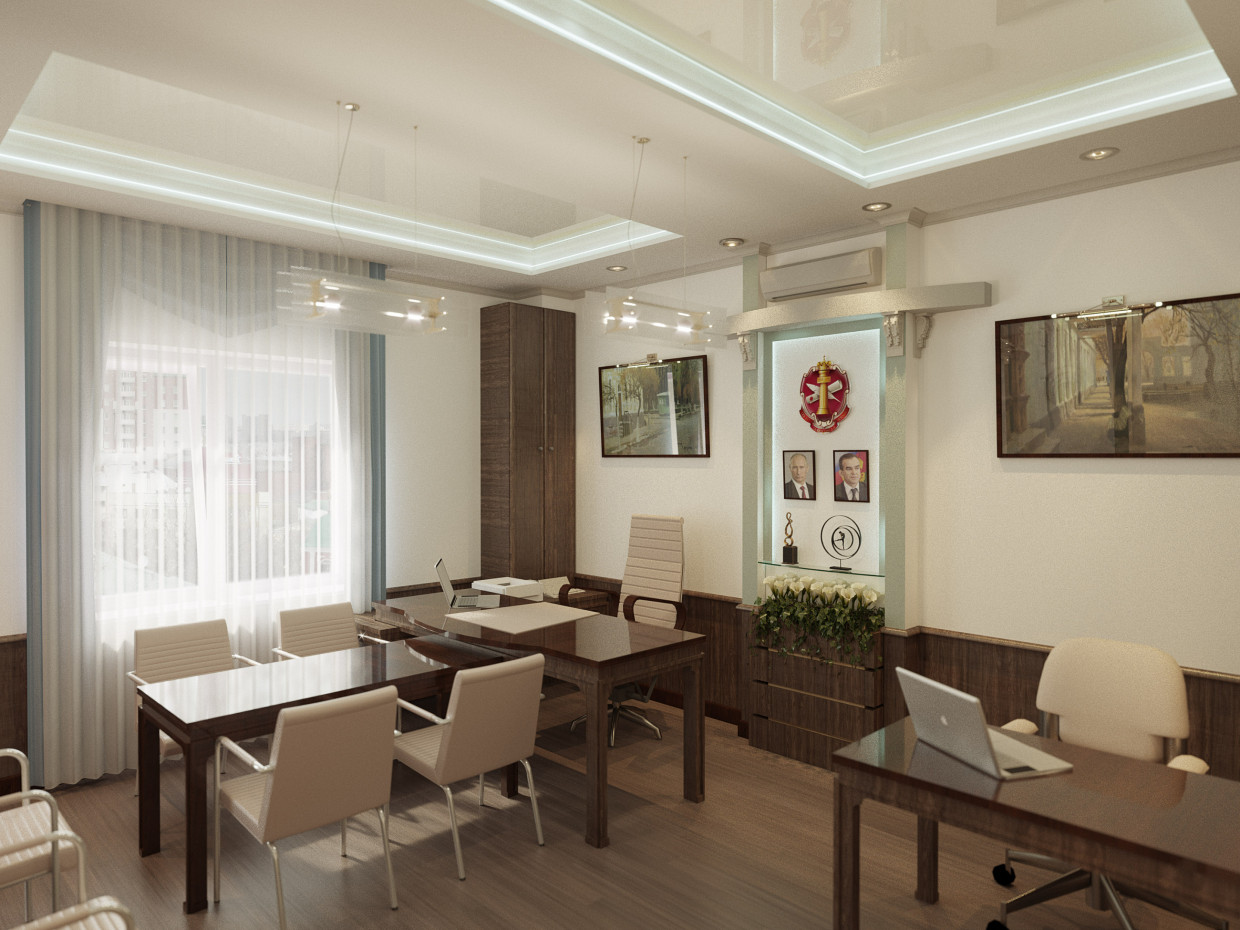 3d visualization of the project in the Cabinet notary. ArchiCAD, render corona render of Alexandr Podvoisky