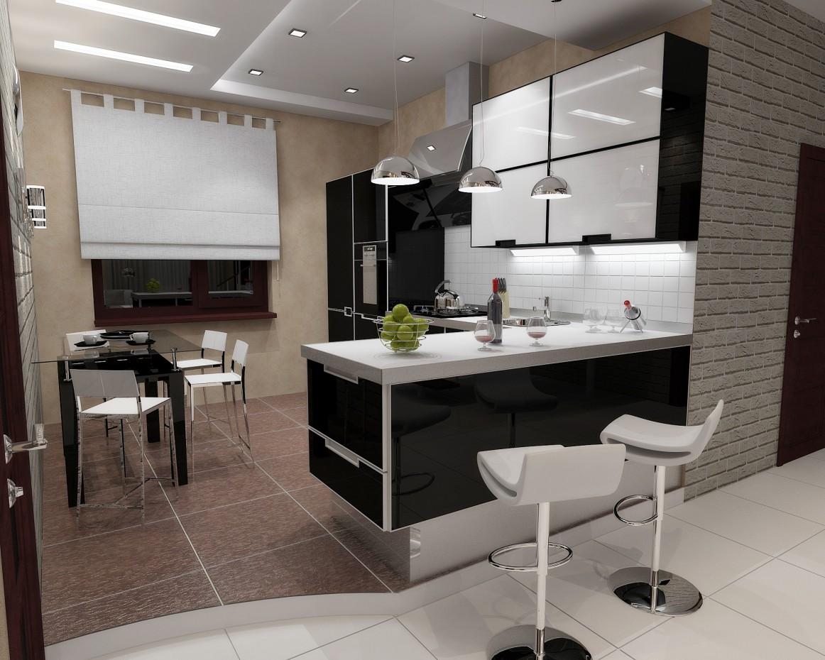 Couloir de la cuisine dans 3d max vray image