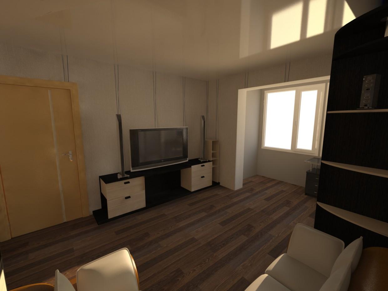 1-ком.Квартира в 3d max vray изображение