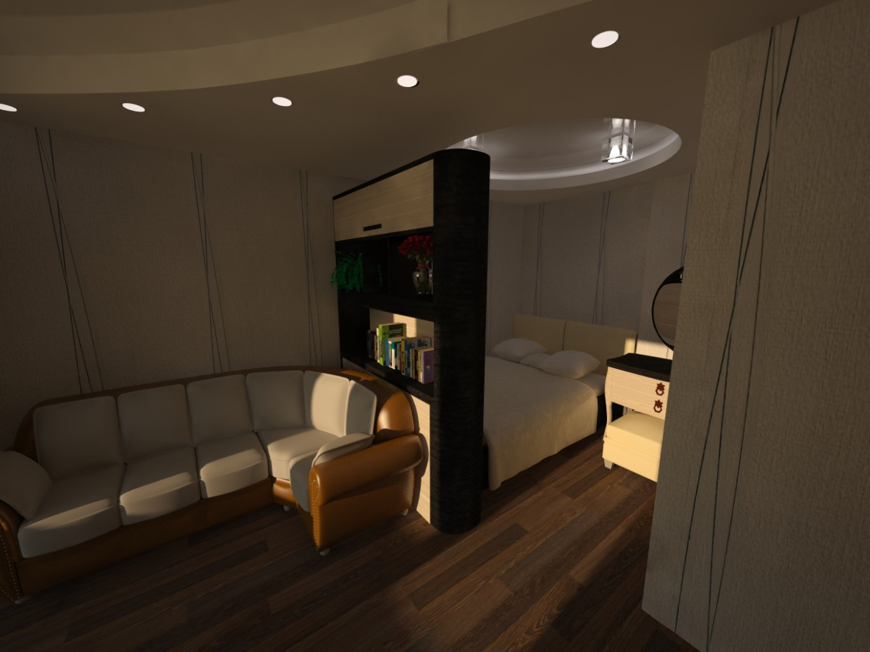 1-room apartment in 3d max vray image