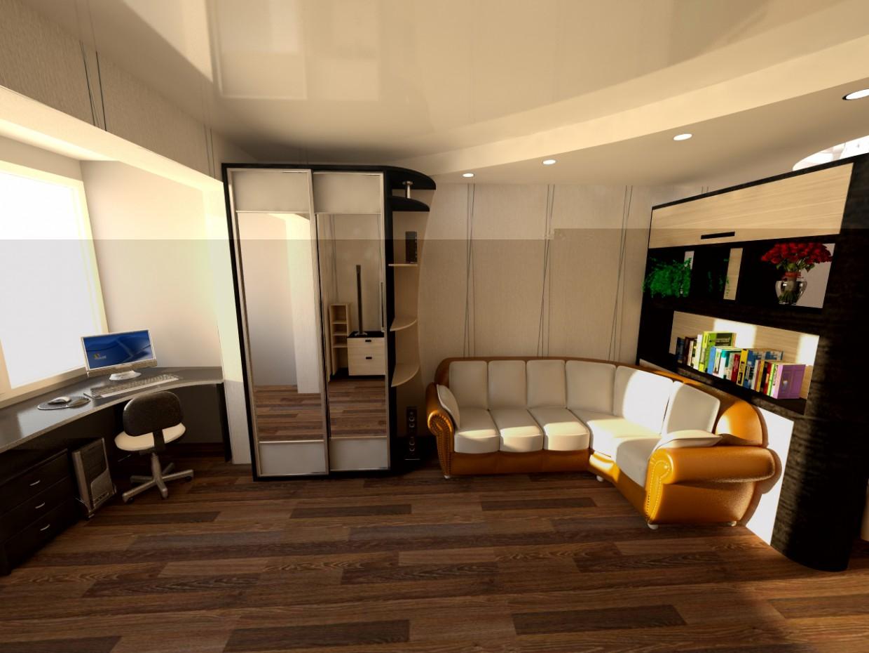 1-кім.квартири в 3d max vray зображення