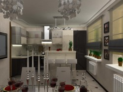 Kitchen and dining room for a young family