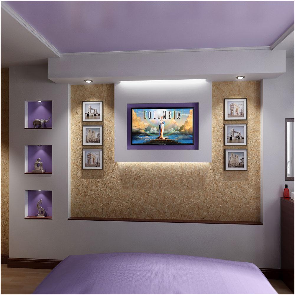 Interior design project for a small bedroom in Chernigov in 3d max vray 1.5 image