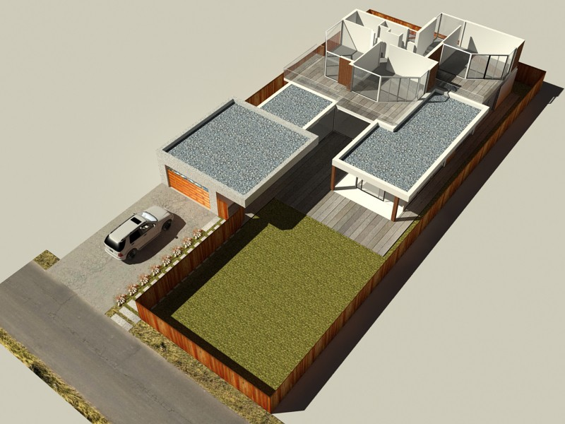 Beach house in 3d max vray 2.0 image
